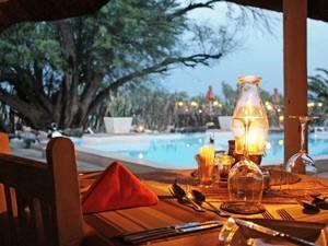 Namibia - Okahandja - Gemütliches Abendessen bei Kerzenschein