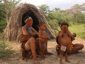 Namibia - Grootfontein - San-Familie
