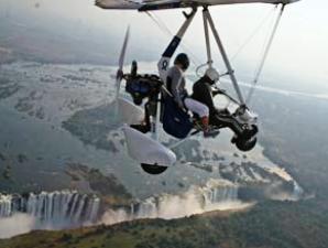 Simbabwe - Victoria Falls - Rundflug über die Vic Falls und den Sambesi - Namibia Botswana