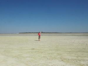 Makgadikgadi Salzpfannen Botswana Camp Ausflug
