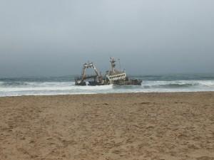Schiffswrack vor der Skeleton Coast