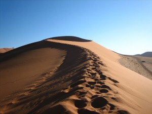 Namibia - Sossusvlei - auf der Spitze einer Sanddüne - Namibia Highlights