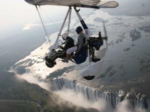 Victoria Wasserfälle Rundflug Hubschrauber Simbabwe