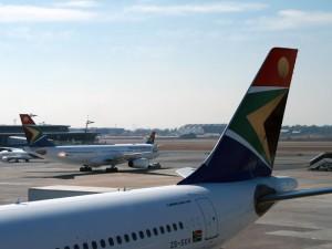 Flugzeug am Flughafen Windhoek