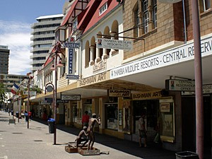Namibia - Windhoek - Geschäfte in der Innenstadt von Windhoek - von Windhoek zu den Victoria Fällen