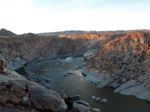 Orange River bei Sonnenuntergang