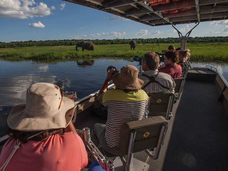 Chobe Nationalpark Botswana Boots-Safari