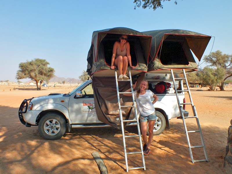 Camping in Namibia