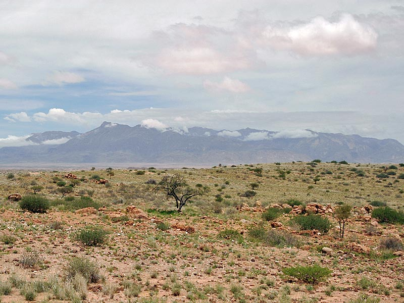 das erongo gebirge in namibia