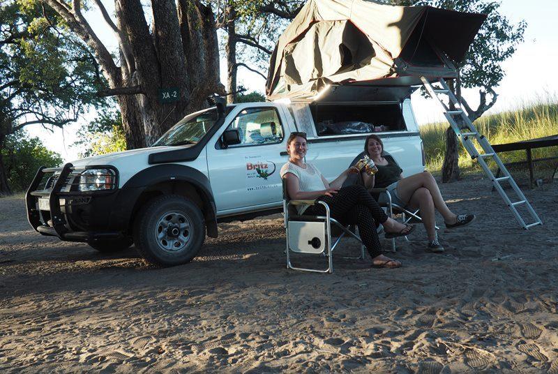 Namibia Camping Dachzelt Allradwagen