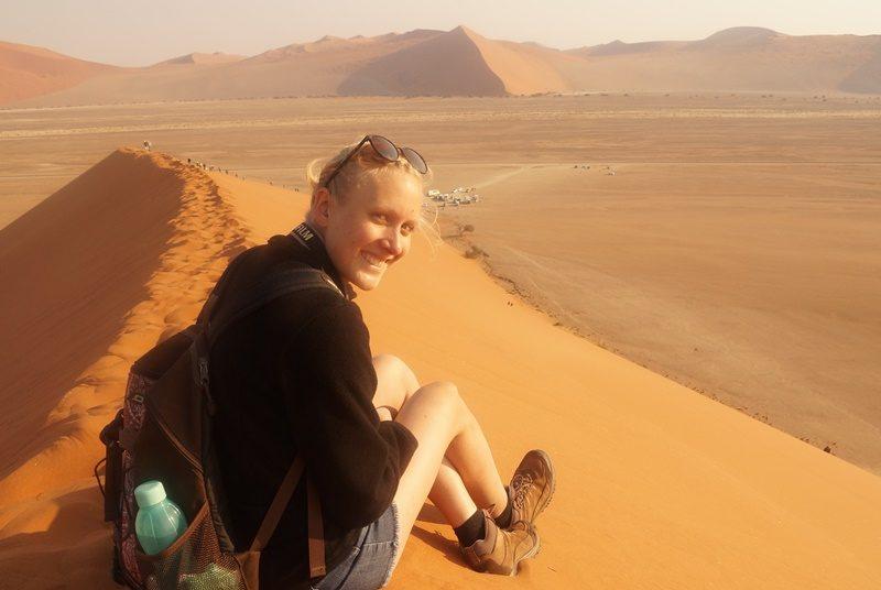 Auf der Düne 45 in Namibia