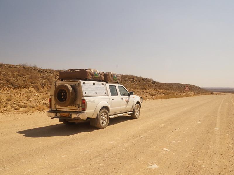 Mit dem Allradwagen in Namibia unterwegs.