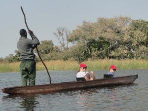 Okavango Delta Tour auf der Namibia und Botswana Reise mit Kindern