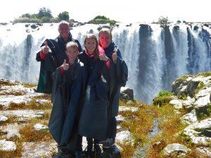 Mit der Familie bei den Victoria Falls