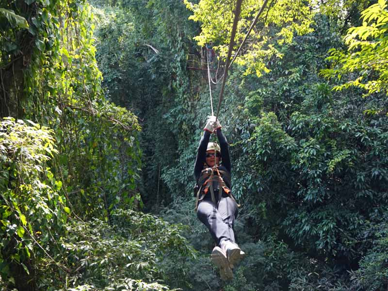 canopy tour Mexico Kids - tokkelen regenwoud