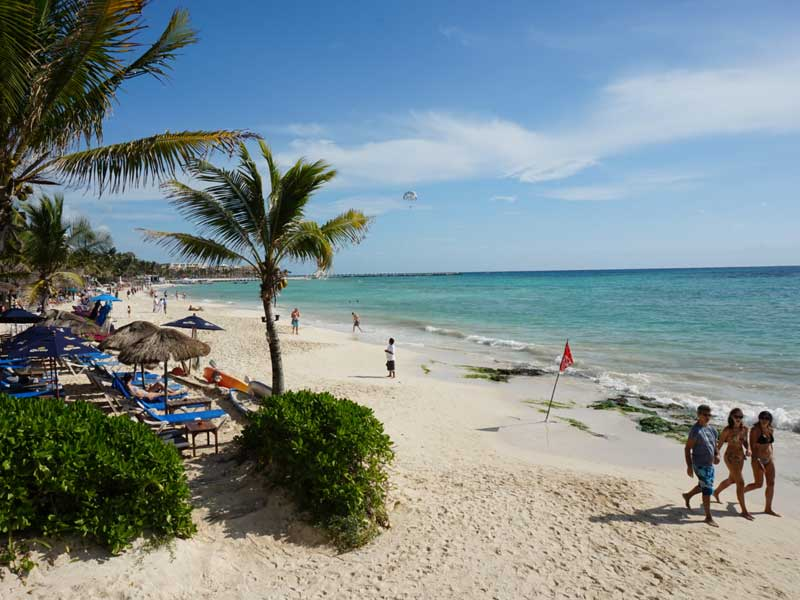 Playa del Carmen met kinderen - strand Mexico