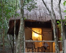 Special stay optie Calakmul - jungle Mexico hotel terras