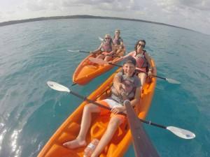 kayak-bacalar-familie-reis-mexico