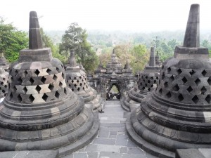 Java Bali: Die Tempelanlage des Borobudur auf Java