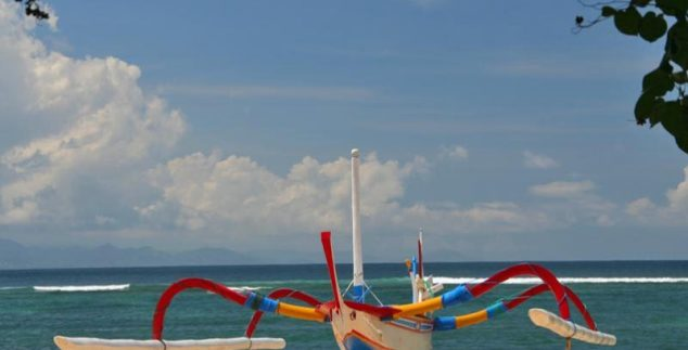 Boot auf Bali