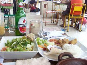 Indonesisches Essen in Yogyakarta