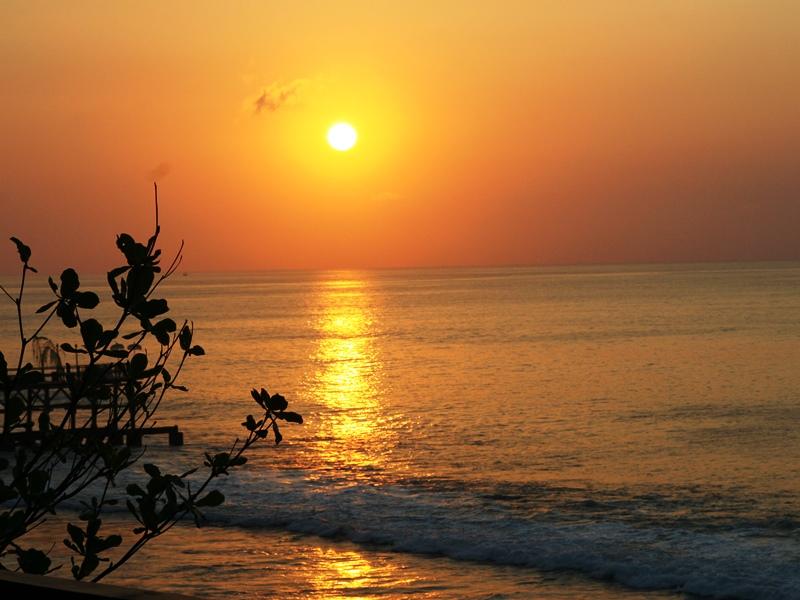 Sonnenuntergang in Indonesien