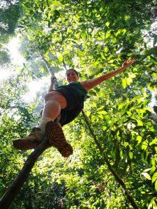 Bukit Lawang - Klettern im Dschungel