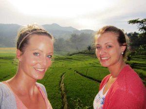 Lake Toba: Wandern entlang der Reisfelder von Samosir