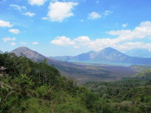 Landschaft vom Vulkan Mount Batur