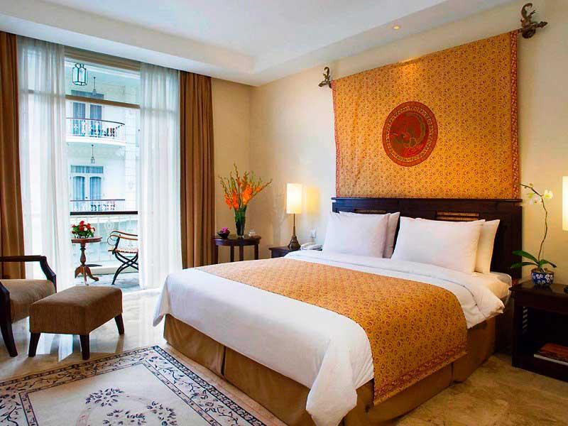Eines der komfortablen Zimmer in Yogyakarta