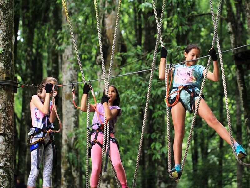 Parcours im Treetop Adventure Park