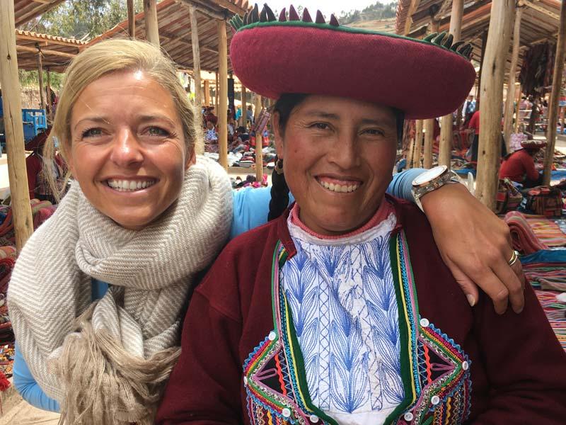 Heilige vallei Peru kids - lokale markt