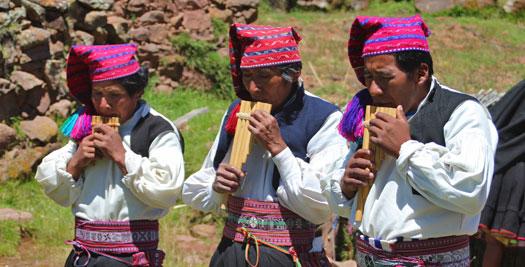 Titicacameer Peru - panfluit