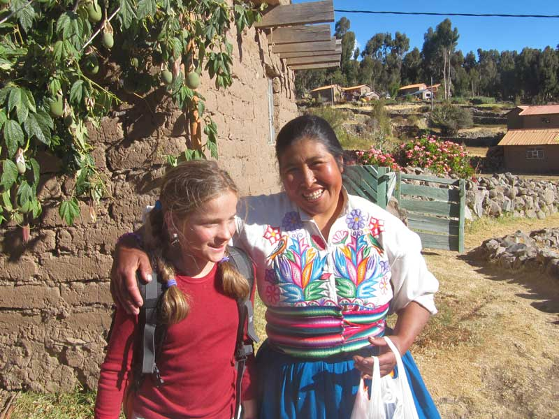 Alternatieve Inca Trail - lares trail met kinderen homestay