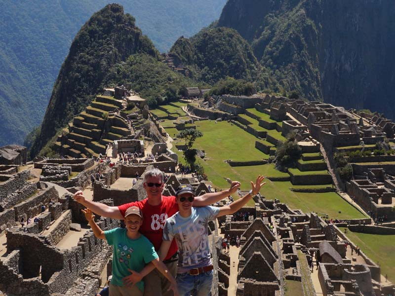 Machu Picchu - Peru met kinderen