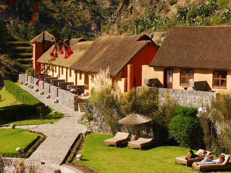 Colca Canyon Peru kids - comfort lodge