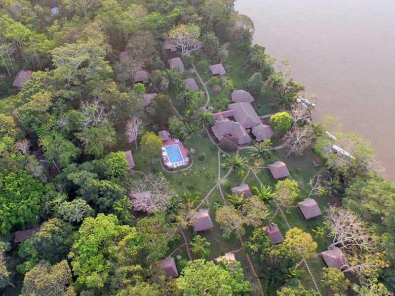 Amazone Peru Kids - jungle lodge arial