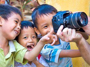 Fietsen in Vietnam - kinderpret