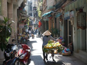 Hanoi met kinderen - straatjes