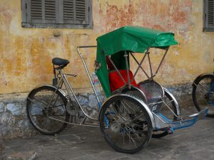 vervoer in Vietnam - riksja