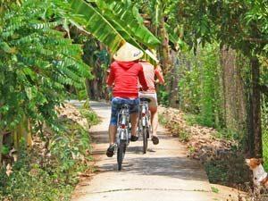 Mekong met kinderen - Fietsen langs de Mekong
