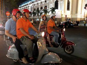 Saigon met kinderen - vespa tour
