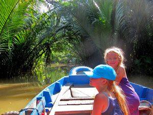 varen over de Mekong - rondreis Vietnam met gezin
