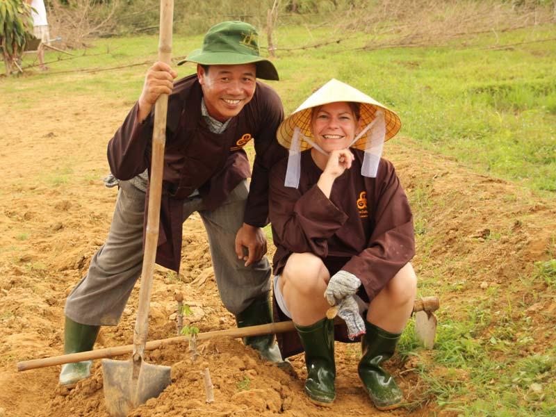 Hué Vietnam - bezoek boerderij