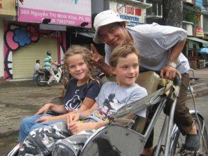 vervoer in Vietnam - fietstaxi