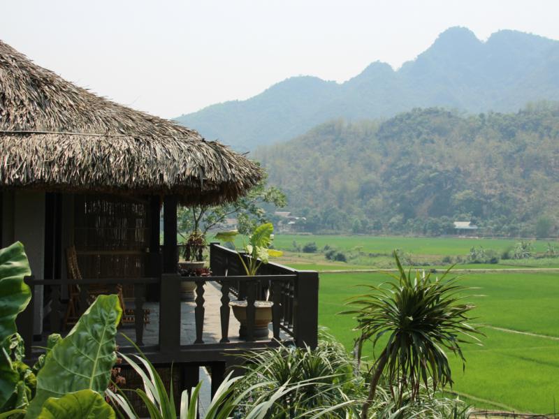 Fietsen in Vietnam - special stay uitzicht