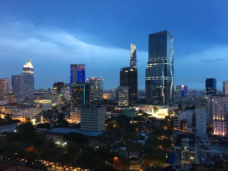 Saigon met kinderen - skyline
