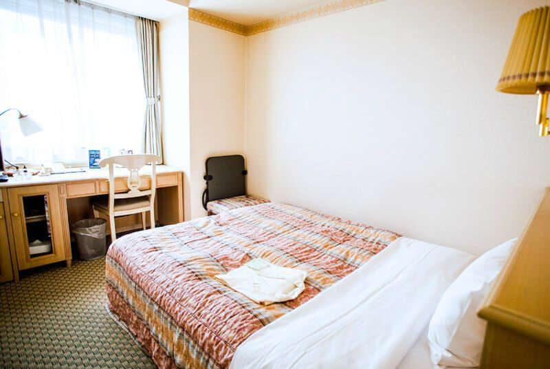 Slaapkamer stadshotel Hiroshima