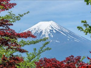 Mount Fuji Sneeuw