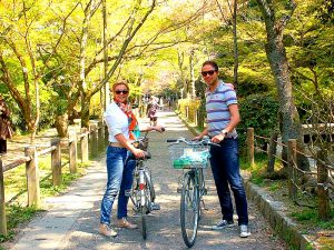 excursies: fietsen in Kyoto